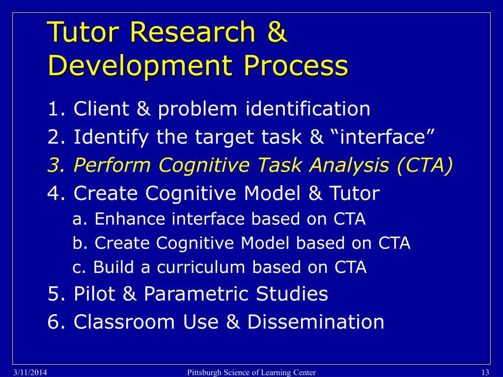 Tutor Research & Development Process