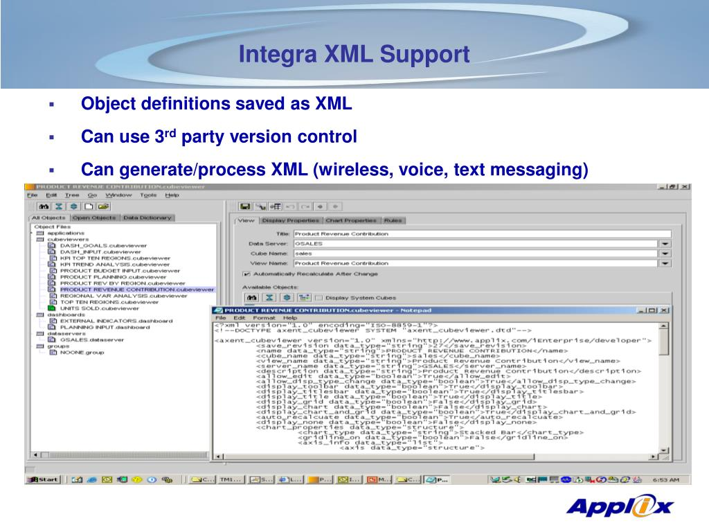 Integra XML Support