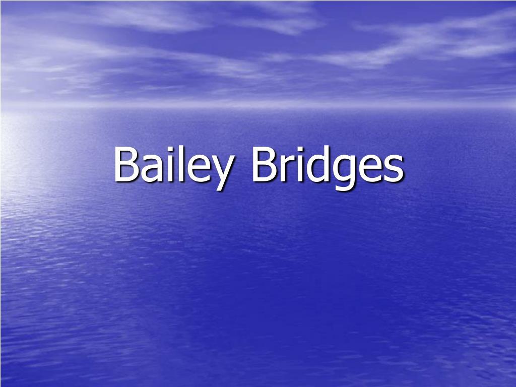 Bailey Bridges