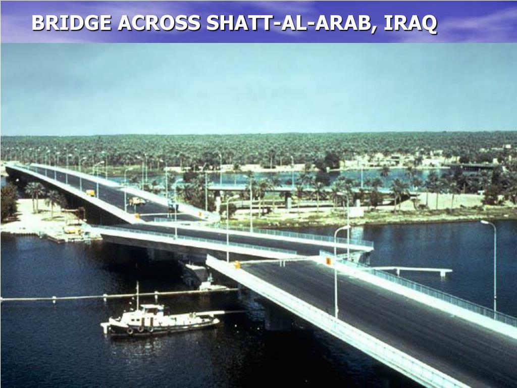 BRIDGE ACROSS SHATT-AL-ARAB, IRAQ