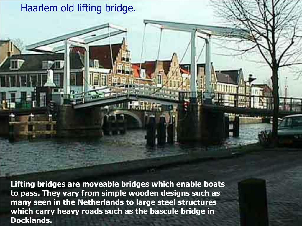 Haarlem old lifting bridge.