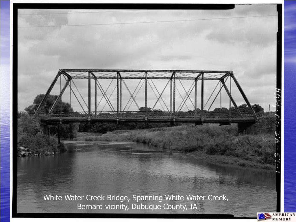 White Water Creek Bridge, Spanning White Water Creek,