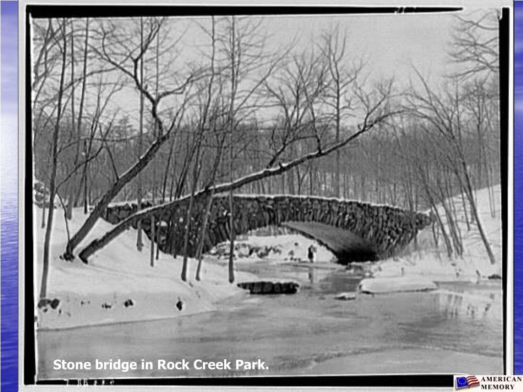 Stone bridge in Rock Creek Park.