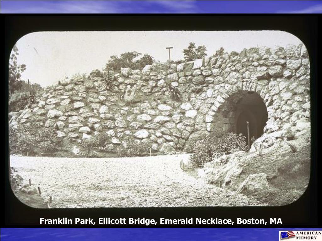 Franklin Park, Ellicott Bridge, Emerald Necklace, Boston, MA