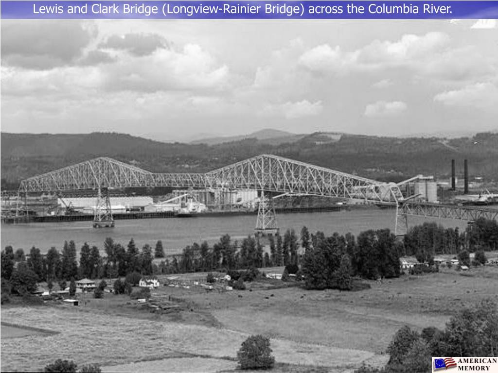 Lewis and Clark Bridge (Longview-Rainier Bridge) across the Columbia River.