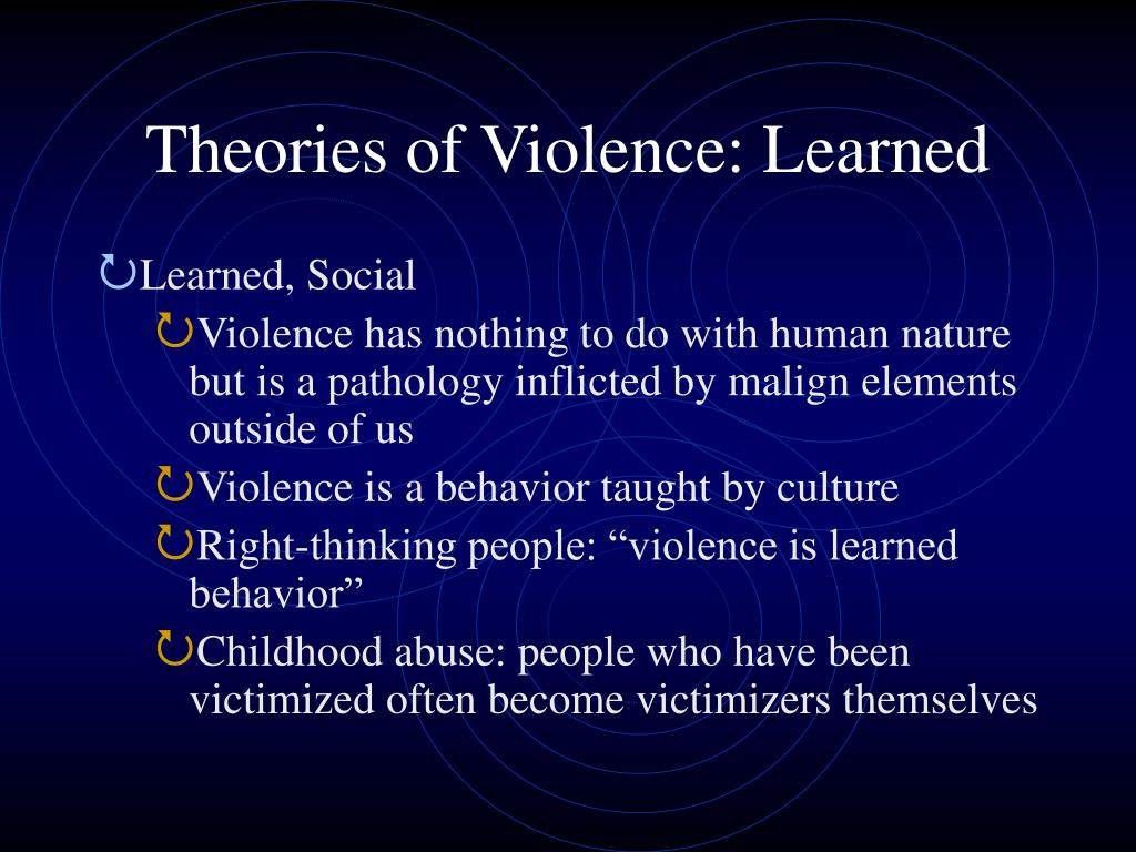 Theories of Violence: Learned