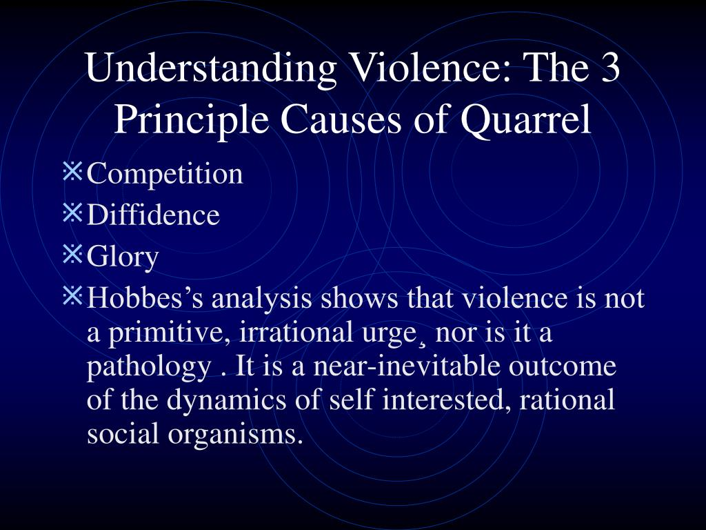 Understanding Violence: The 3 Principle Causes of Quarrel