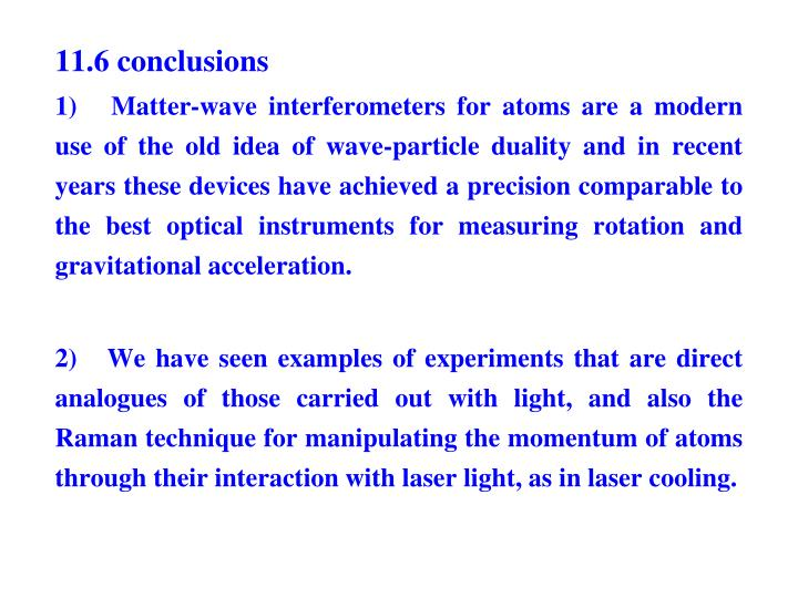 11.6 conclusions