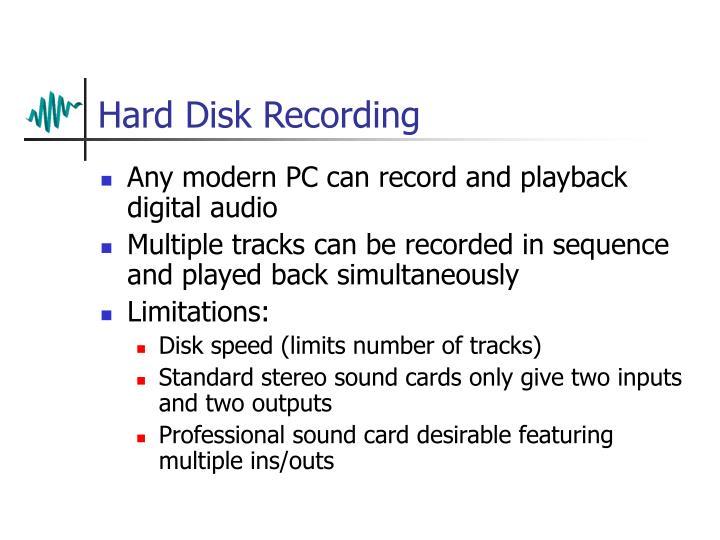Hard Disk Recording