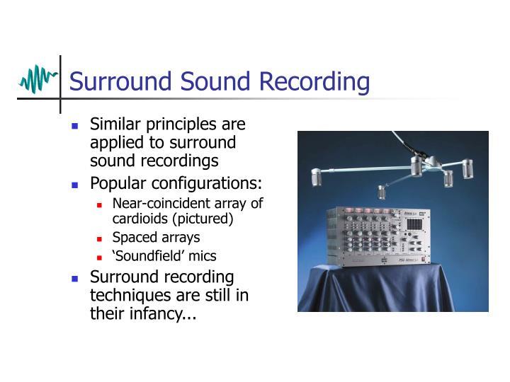 Surround Sound Recording