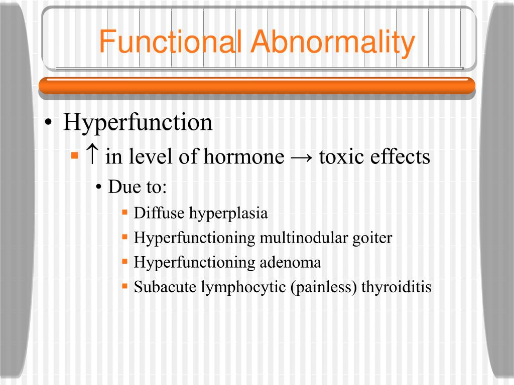 Functional Abnormality