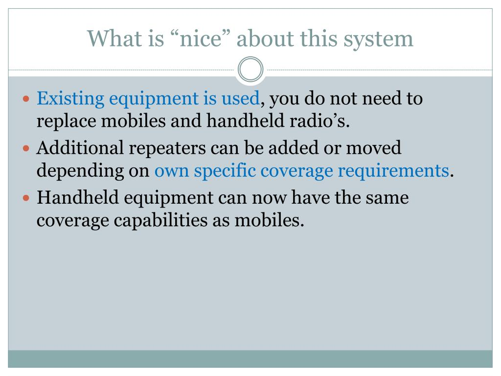 """What is """"nice"""" about this system"""