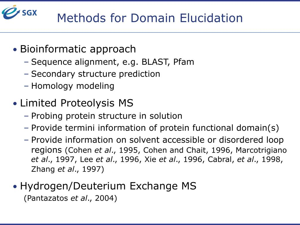 Methods for Domain Elucidation