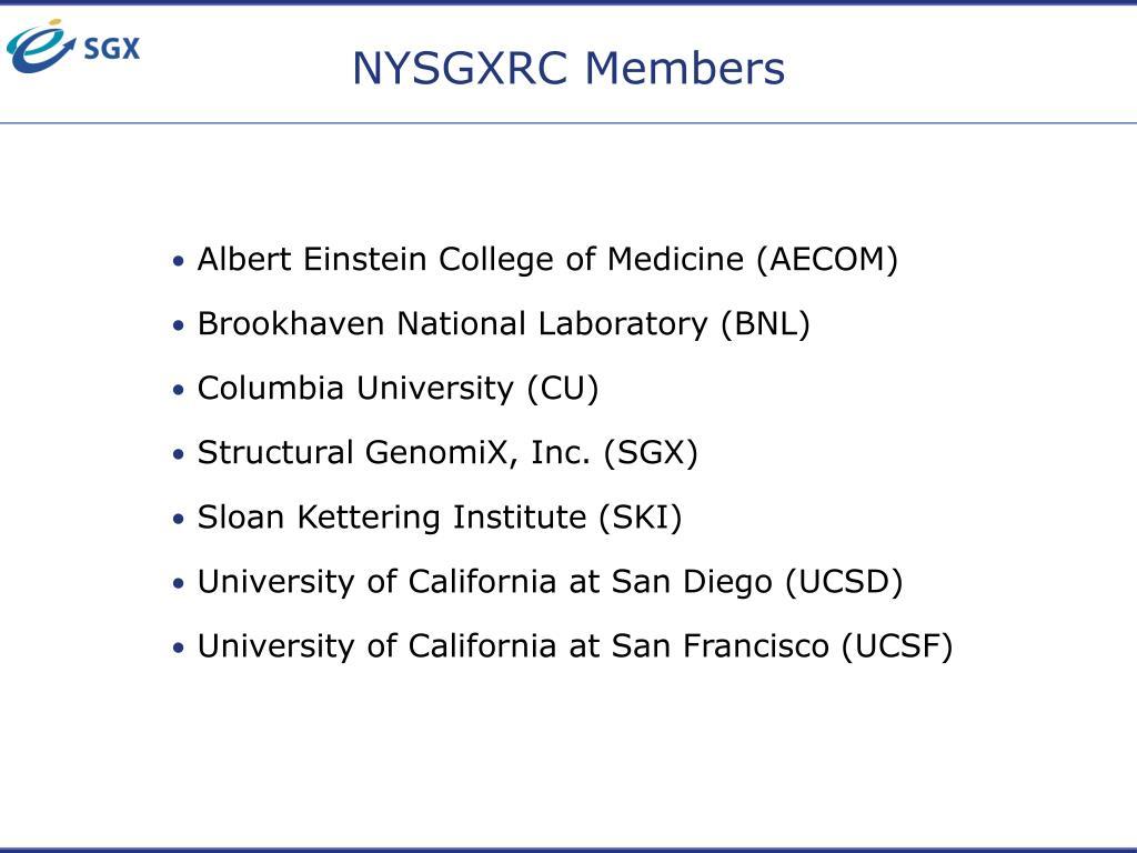NYSGXRC Members