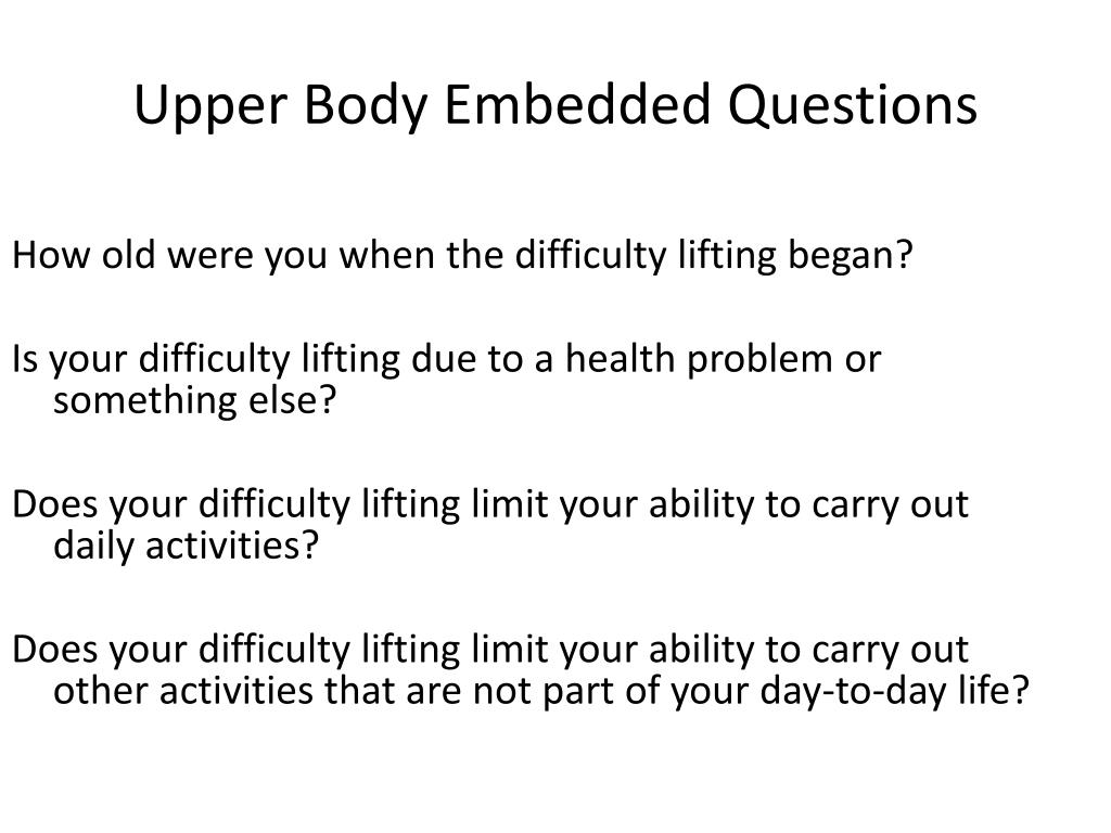 How old were you when the difficulty lifting began?