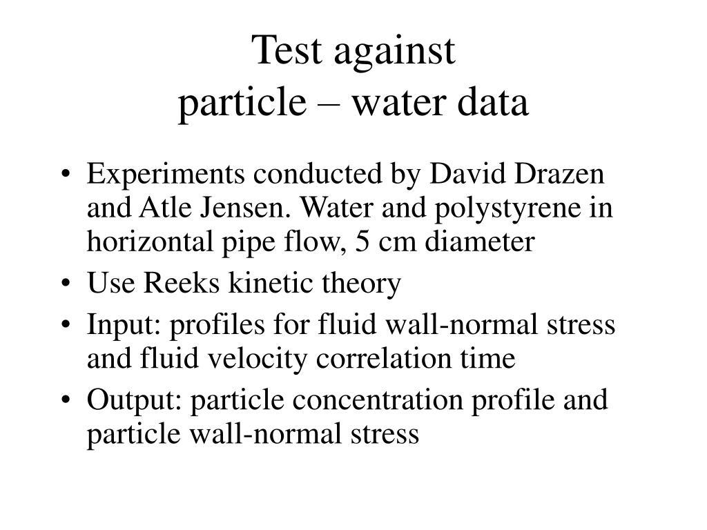 Test against
