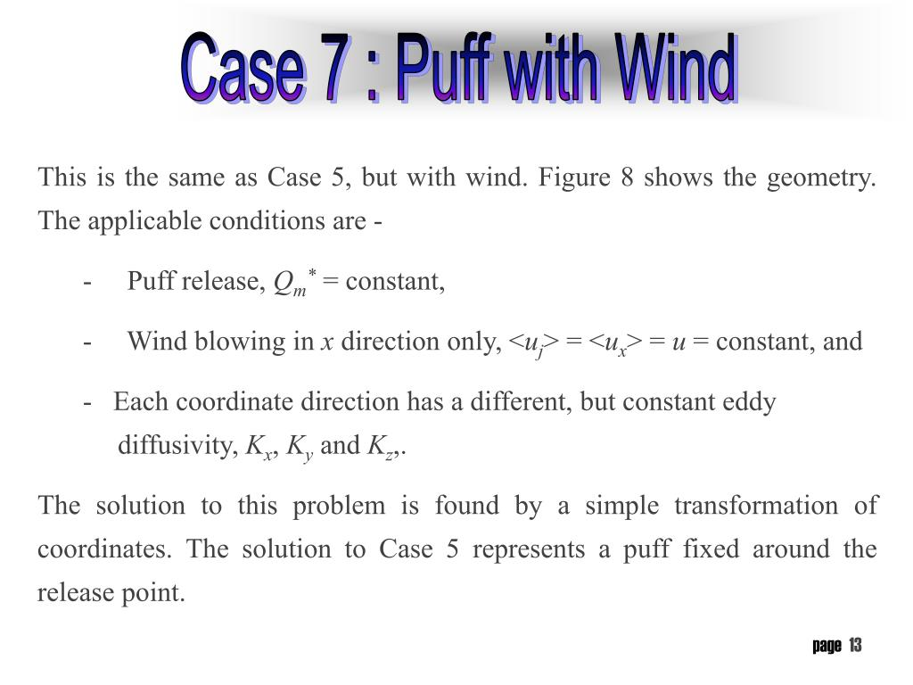Case 7 : Puff with Wind