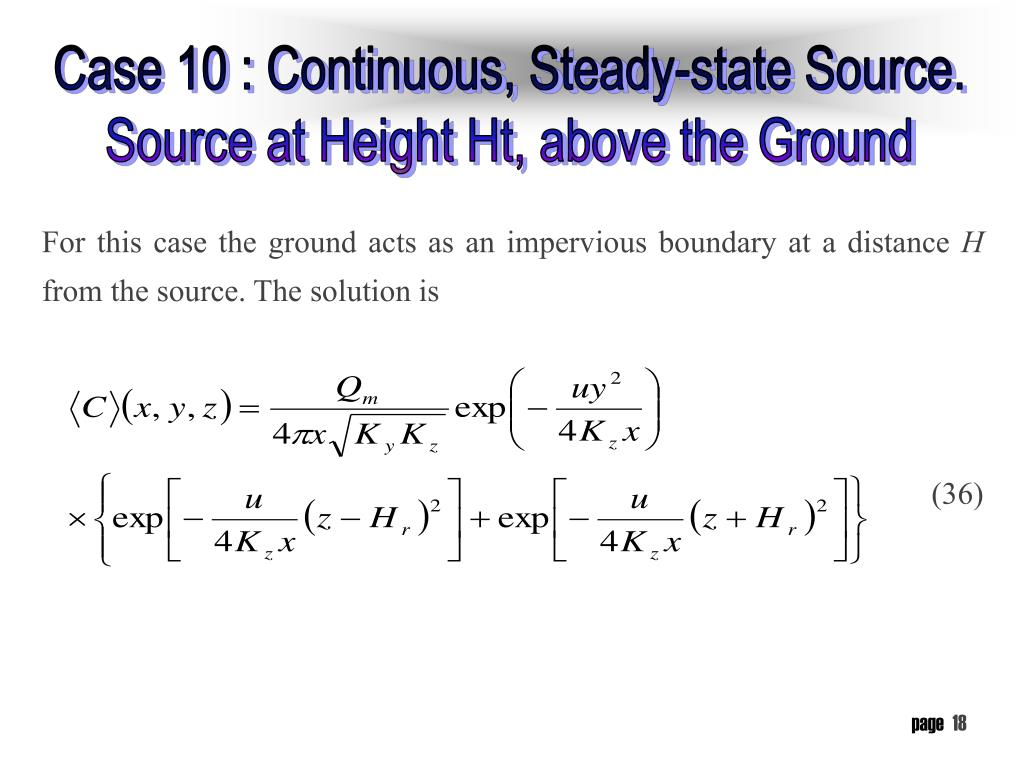 For this case the ground acts as an impervious boundary at a distance