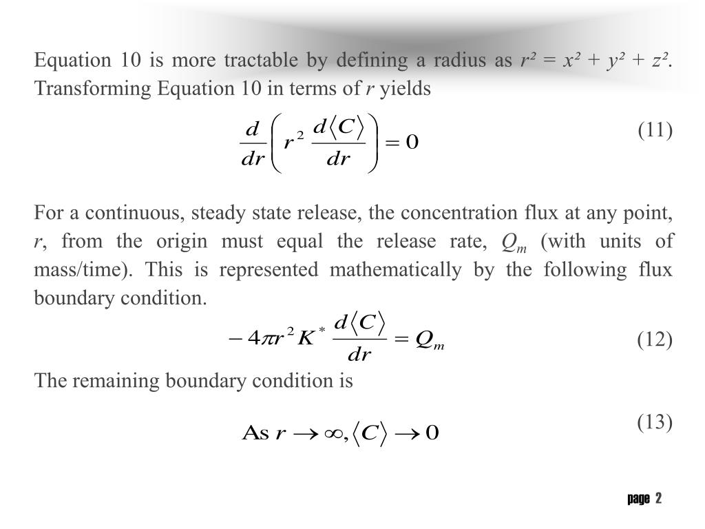 Equation 10 is more tractable by defining a radius as