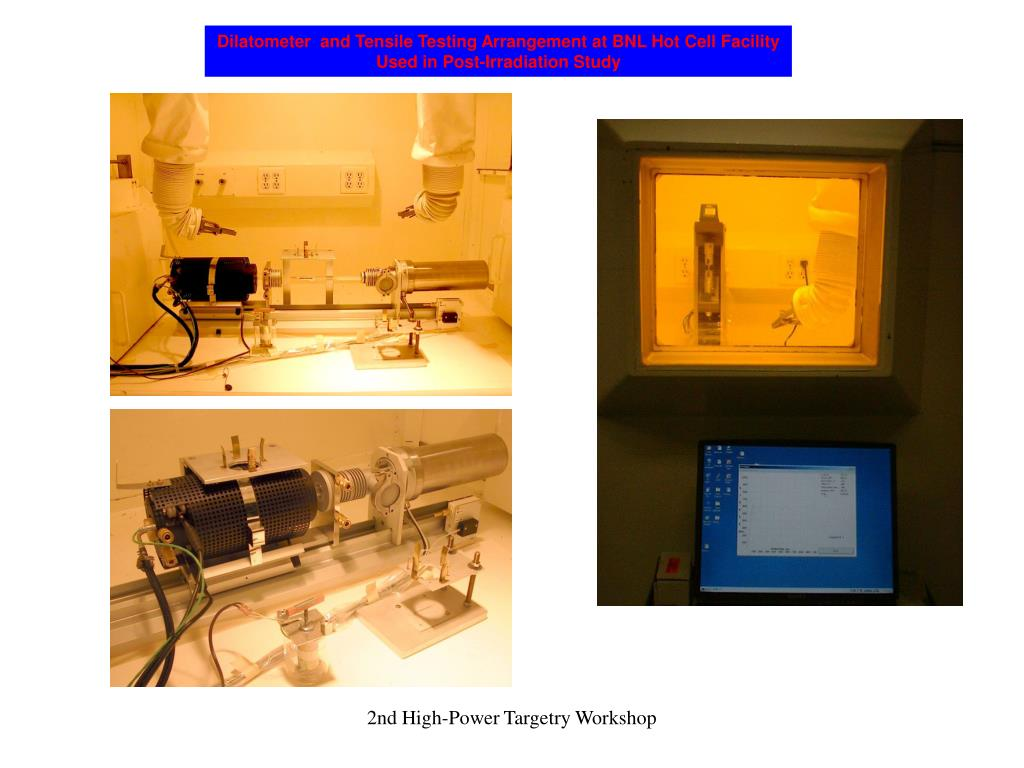 Dilatometer  and Tensile Testing Arrangement at BNL Hot Cell Facility