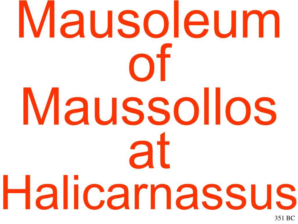 Mausoleum of Maussollos at