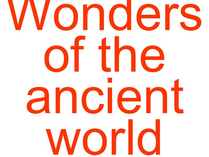 Wonders of the ancient world2