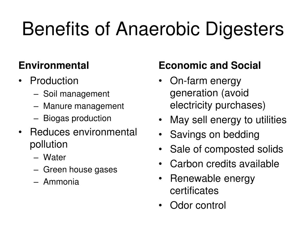 Benefits of Anaerobic Digesters