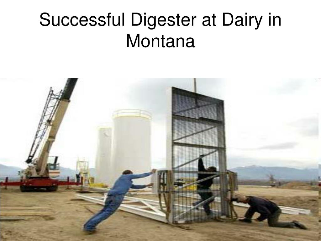Successful Digester at Dairy in Montana