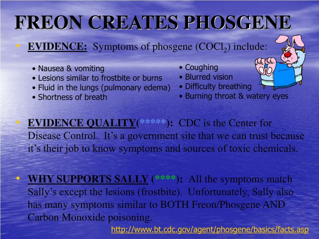 FREON CREATES PHOSGENE