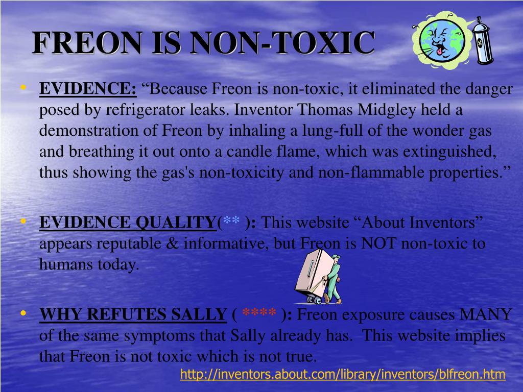 FREON IS NON-TOXIC