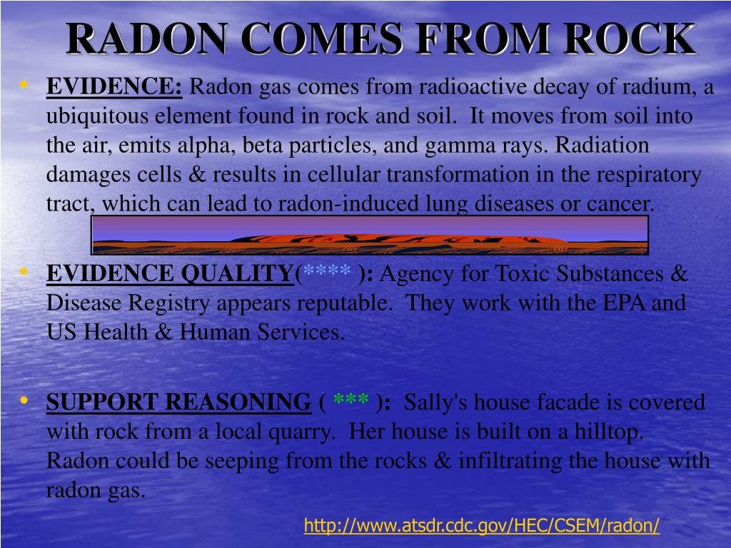 RADON COMES FROM ROCK
