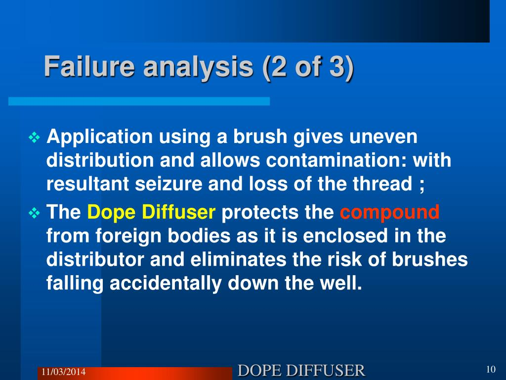 Failure analysis (2 of 3)
