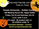 haunted hayride and safe trick or treat