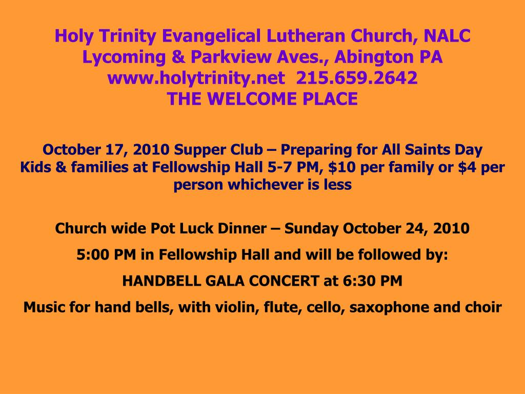 Holy Trinity Evangelical Lutheran Church, NALC