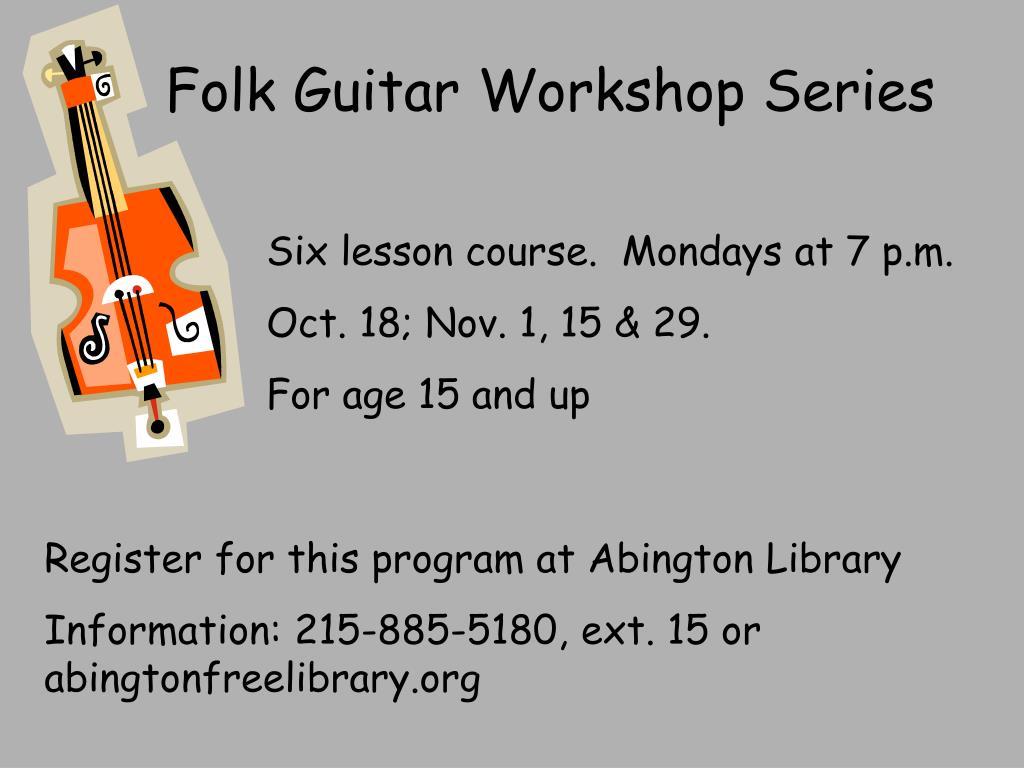 Folk Guitar Workshop Series
