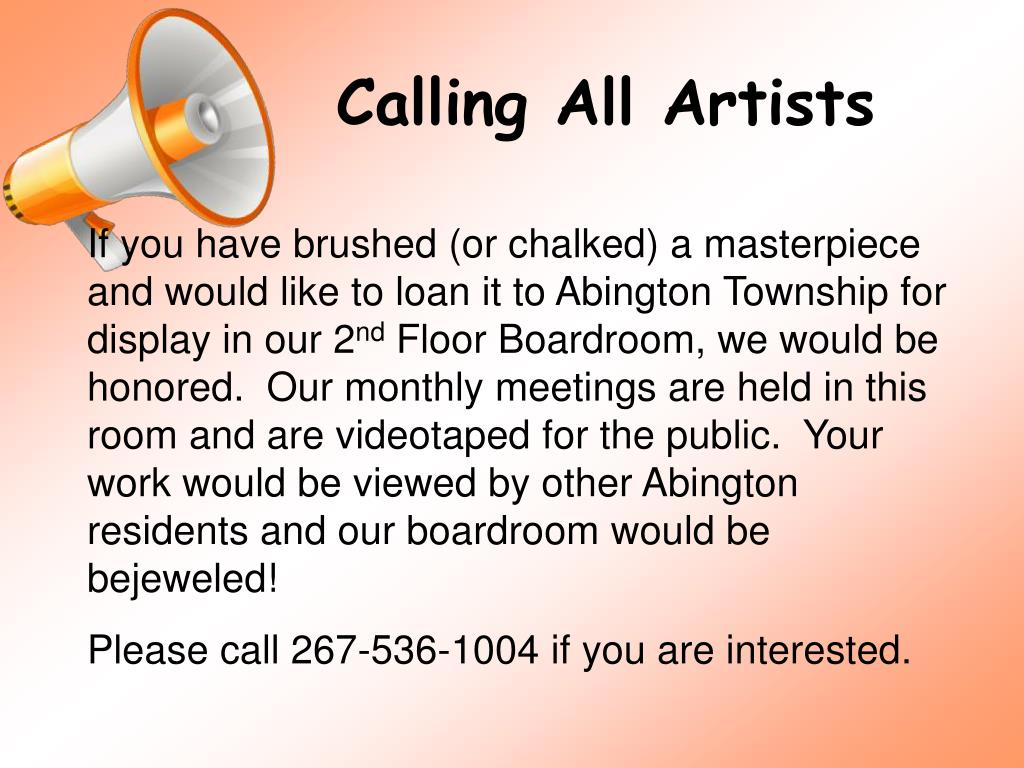 Calling All Artists