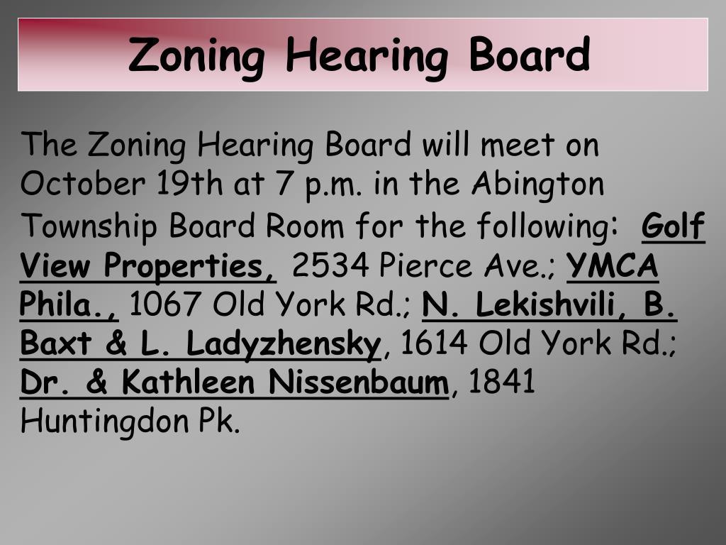 Zoning Hearing Board