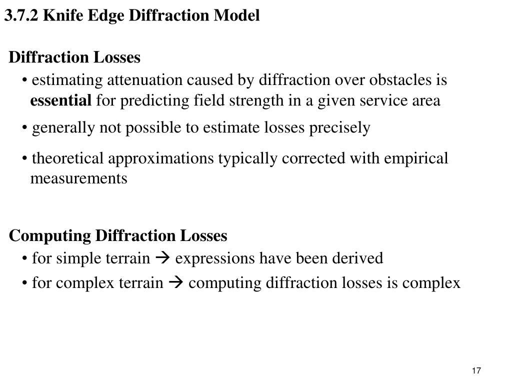 3.7.2 Knife Edge Diffraction Model