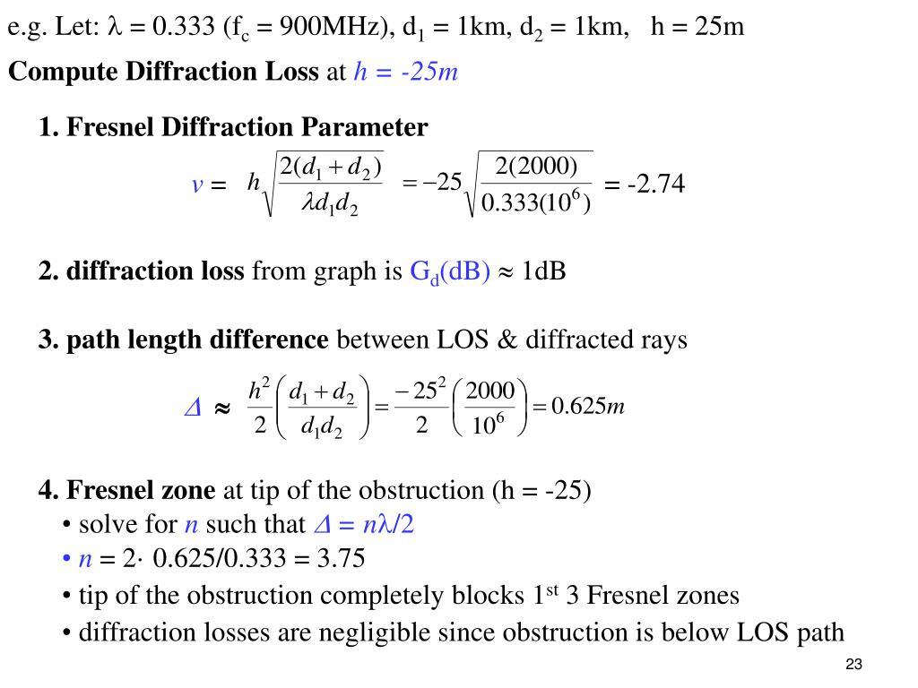 1. Fresnel Diffraction Parameter