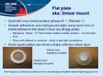 flat plate aka smear mount
