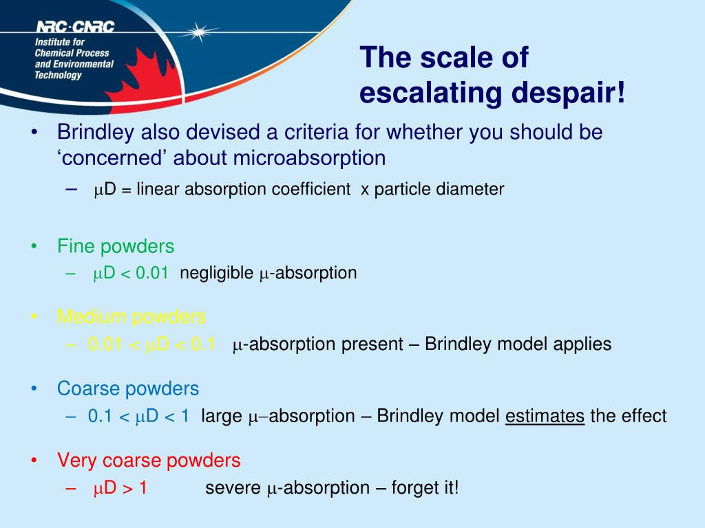 The scale of escalating despair!