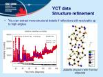 vct data structure refinement