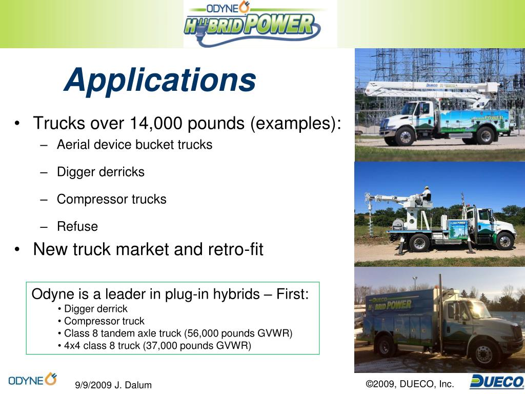 Trucks over 14,000 pounds (examples):