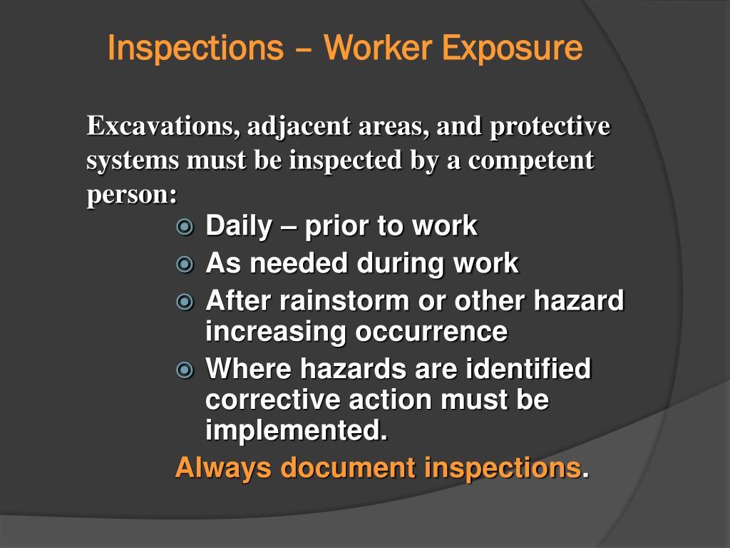 Inspections – Worker Exposure