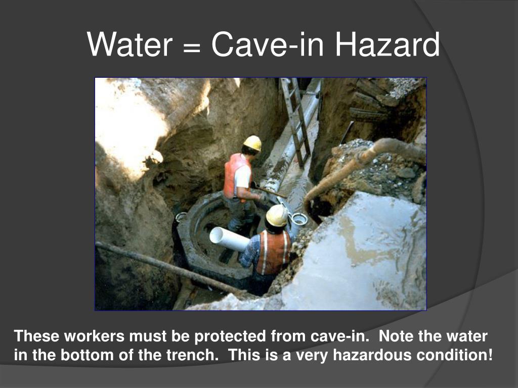 Water = Cave-in Hazard