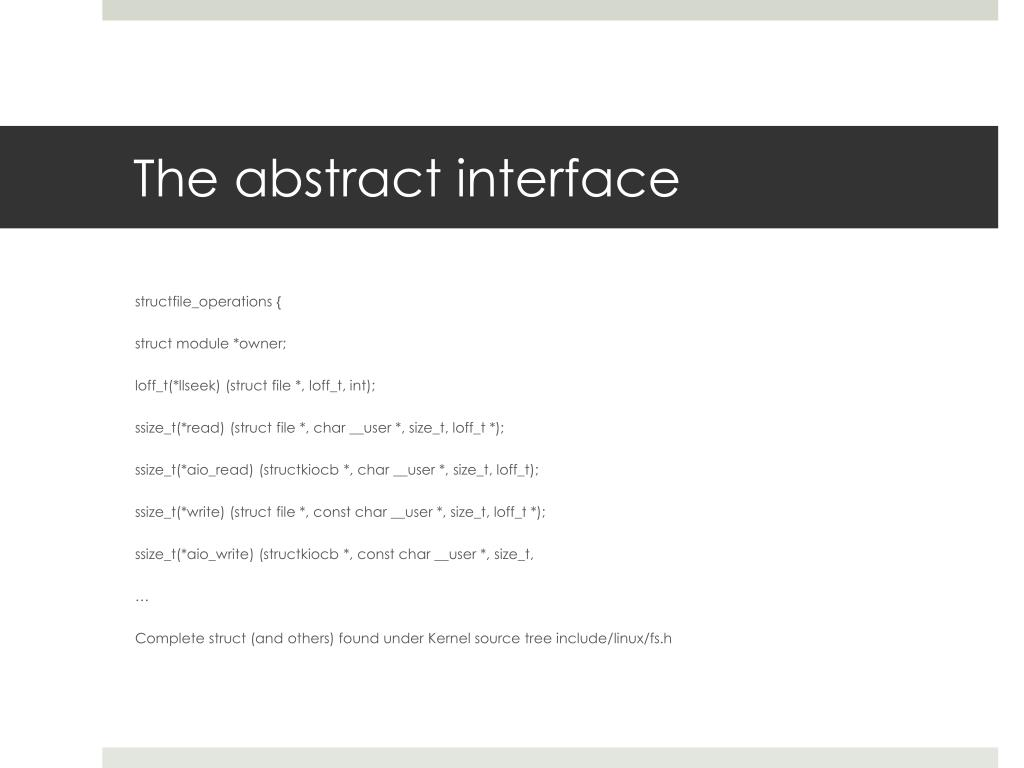 The abstract interface