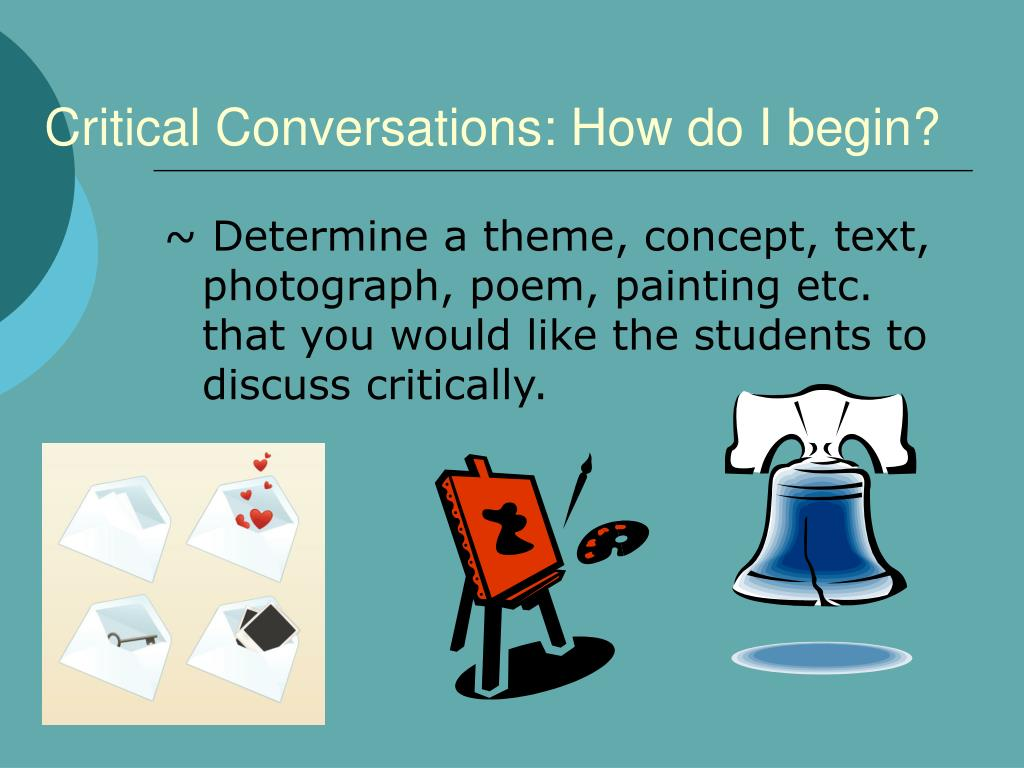 Critical Conversations: How do I begin?