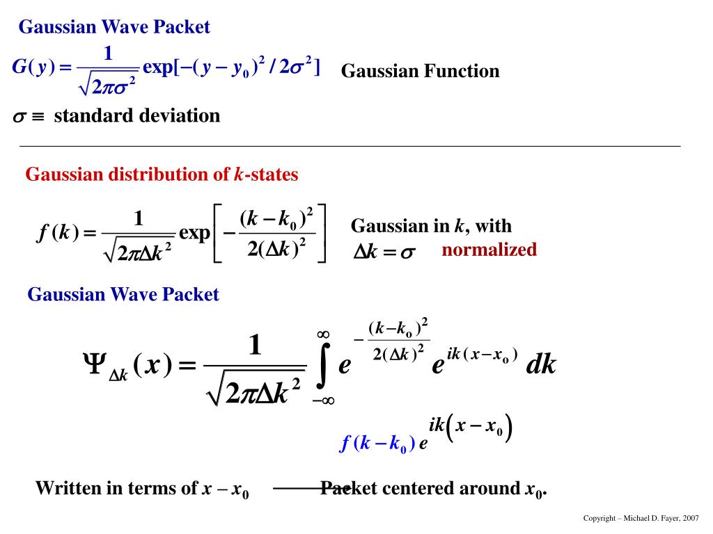 Gaussian Function
