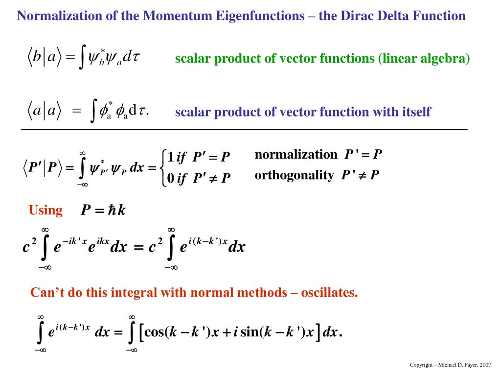 scalar product of vector functions (linear algebra)