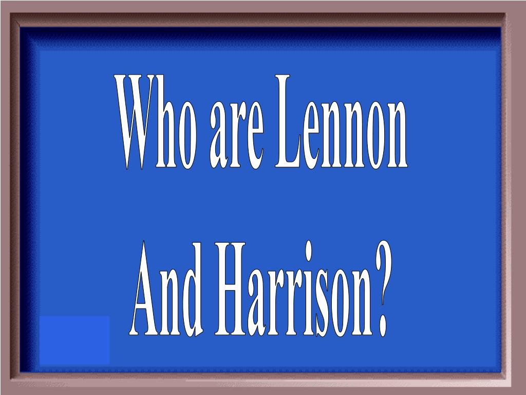 Who are Lennon
